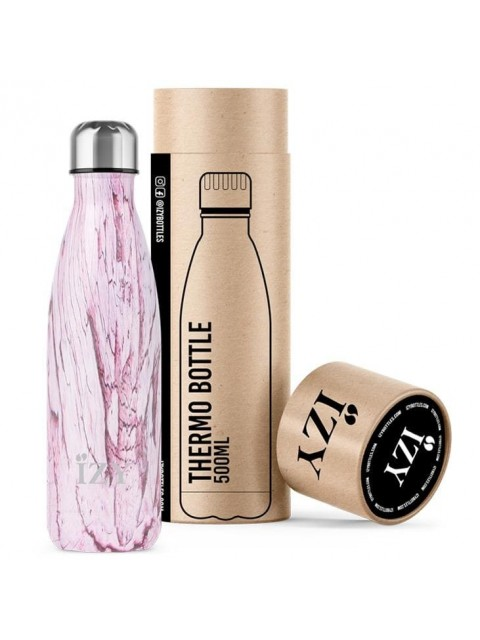 GOURDE THERMOS ROSE MARBRE