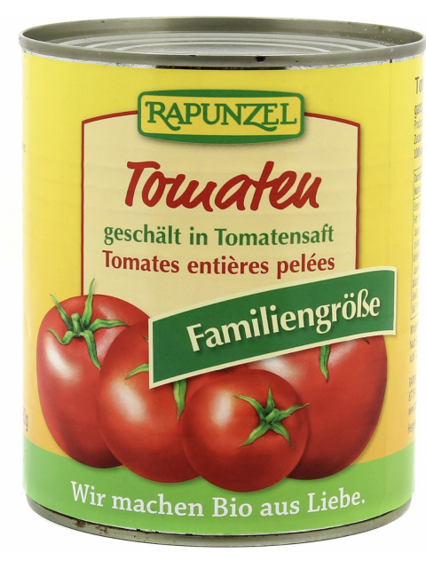 TOMATE ENTIERES PELEE 800G